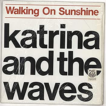WALKING ON SUNSHINE/GOING DOWN TO LIVERPOOL---KATRINA AND THE WAVES 45 R.P.M PICTURE SLEEVE
