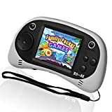 LIVKIDS Kids Portable Game Player, RS-8X 16 Bit HD Handheld Game Console Built-in 42 Classic Games 2.5 Inch Retro Video Games Console (White-1)