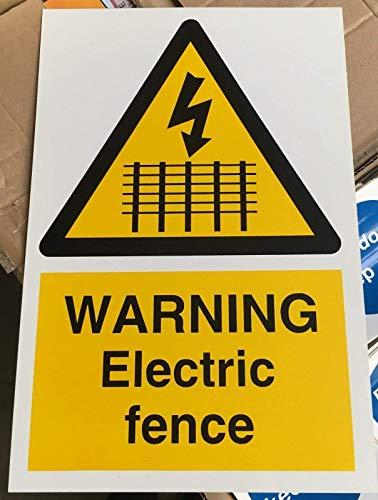 Señal de advertencia – Cerca eléctrica de advertencia – 30 x 20...