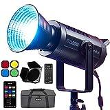 Godox SZ150R RGB-LED-Licht, 150 W LED-Video-Beleuchtung, 2800–6500 K Vollfarbe, 37 Lichteffekte, mit Fernbedienung, Tragetasche und Scheunentür
