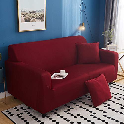 lanying Sofa Abdeckung Hussen für L Form Sofa Couch Sessel,Elastisches All-Inclusive-Sofakissenhandtuch, Loveseat Stuhl L-förmige Sofabezug-03_1 Sitzer 90-140cm