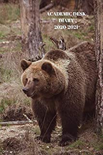 ACADEMIC DESK DIARY 2020-2021: A5 Diary Starts 1 August 2020 Until 31 July 2021. Wild Life. Paperback With Soft Water Repe...