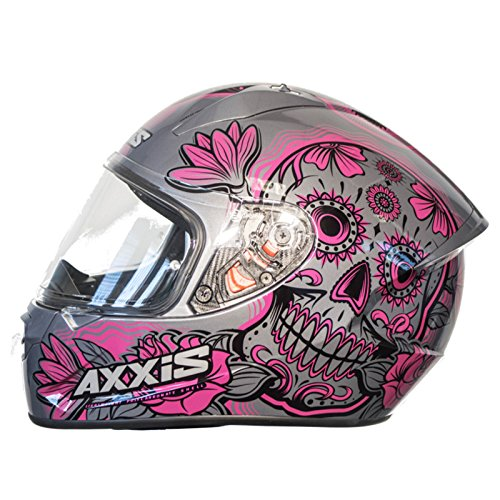 Casco Axxis STINGER DAYDEAD Rosa Mexican skull calaveras mexicanas (S)