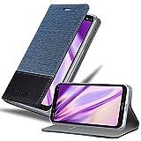 Cadorabo Hülle für Nokia 5.1 Plus in DUNKEL BLAU SCHWARZ - Handyhülle mit Magnetverschluss, Standfunktion & Kartenfach - Hülle Cover Schutzhülle Etui Tasche Book Klapp Style