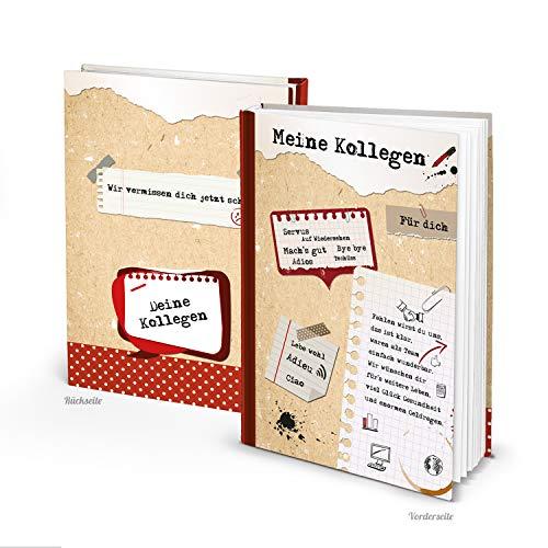 Logbuch-Verlag großes Kollegenbuch zum Abschied rot braun weiß A4 Meine Kollegen - Abschiedsbuch zum Einschreiben Abschiedsgeschenk