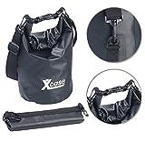 Xcase Strandtasche: Wasserdichter Packsack, strapazierfähige Industrie-Plane, 5 l, schwarz...