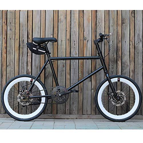 WGYHI 20 Pulgada Single Speed Bicicleta,Vintage Retro Bicicleta Mujer Cómoda Bicicleta De Ciudad Estudiante Jóvenes Ligero Portátil Ultraligera Freno De Disco Citybike Unisex Hombres Bici -R-20inch