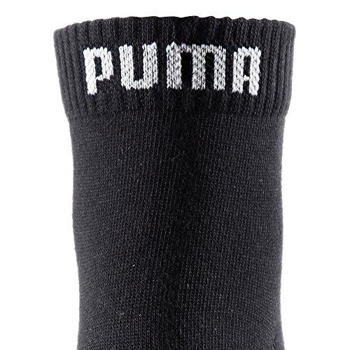 PUMA Unisex Puma Unisex 3p Quarter Plain Sock, Black (Black), 8-Jun UK