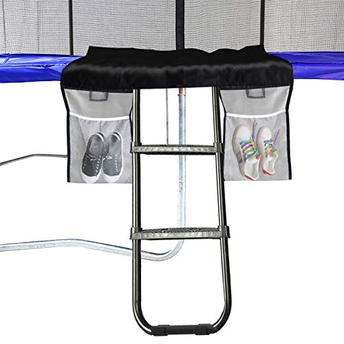 top 10 trampoline ladders Eurmax universal trampoline ladder with 2 wide non-slip steps and storage bag / black