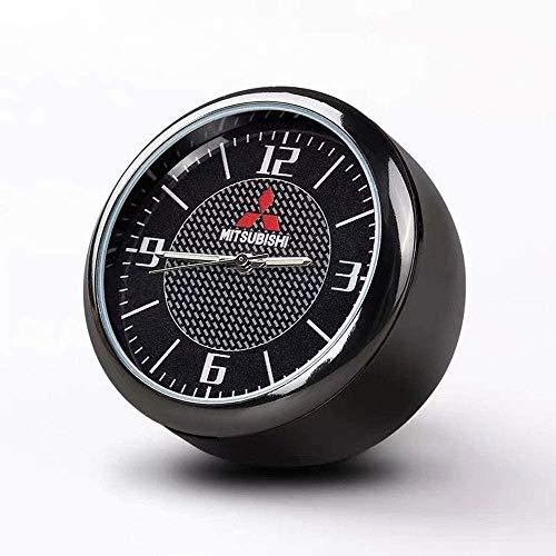 Runde Auto Uhr, Armaturenbrett Uhr, Hohe Genauigkeit Quartz Luminous Dial, perfekte Auto-Dekoration mit Vent Clip und doppelseitiges Klebeband for Auto (M-ITSUBISHI)