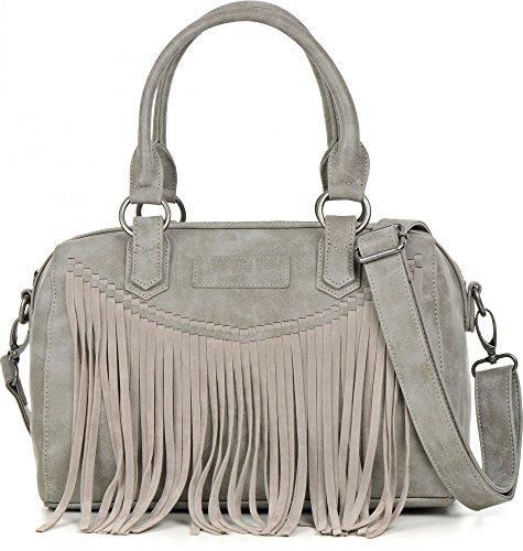 Fritzi aus Preussen Thea Vintage Bowlingbag Handtasche Tasche Schultertasche, Farbe:Star
