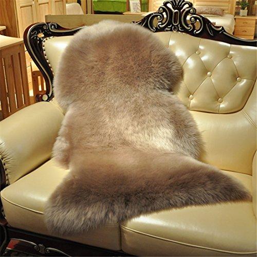 Genuine Australian Sheepskin Rug for Babies-Singel Natural Luxuriously Soft Lambskin Wool
