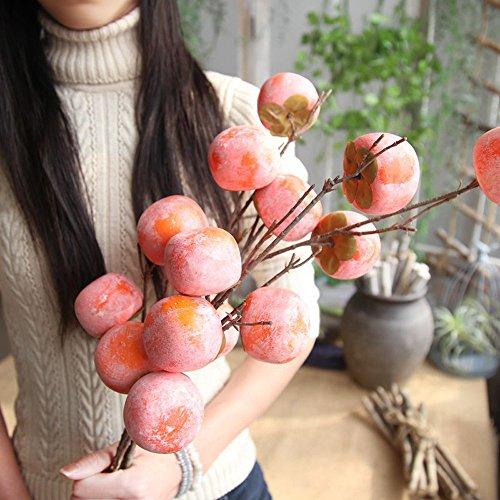 Hahuha Beerenstrauß, Gefälschte künstliche Rosenfrucht Granatapfel-Beeren-Blumenstrauß Blumengarten Home Decor, Wohnkultur