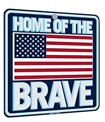Home of The Brave - SELF Illuminating Window Sign