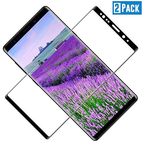 TOCYORIC Verre Trempé Samsung Galaxy Note 8 [3D Incurvé Couverture Complète] Film Protection écran Galaxy Note 8, Vitre écran Samsung Note 8 [Haute Sensibilité] [Anti Rayures][2 Pack]
