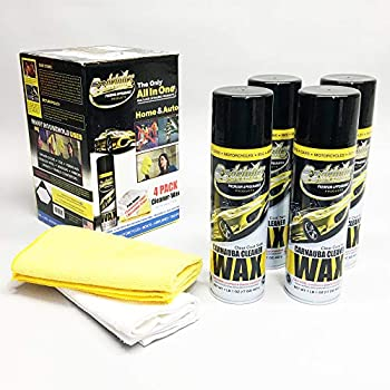 EZ Wax Premium EZ Detailer Spray Wax Waterless Cleaner with Carnauba - Clean Shine Protect Paint Stainless Steel Shower Doors Mirrors Windows Granite Marble and More - 4 Pack Detail Kit