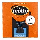 CAFFÈ MOTTA 96 Capsule Compatibili Nescafè Dolce Gusto, Espresso Decaffeinato, 6 Confezioni da 16 Capsule, Made in Italy