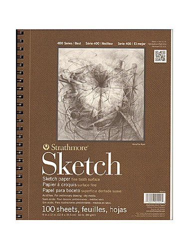Strathmore Series 400 Sketch Pads 9 in. x 12 in. 100 sheets [PACK OF 2 ]