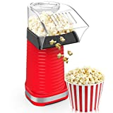 Fast Hot Air Popcorn Popper With Top Cover,Electric Popcorn Maker Machine,Healthy & Delicious Snack...