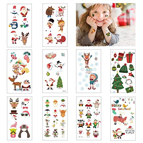 Jofan Christmas Temporary Tattoos for Christmas Party Favors Christmas Decorations