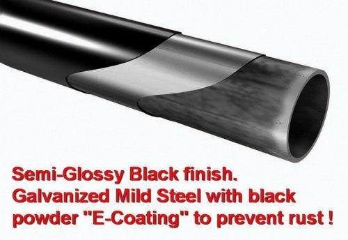 MaxMate Custom Fit 2009-2017 Dodge Ram 1500 Quad Cab 5inch Black Oval Bend Side Step Rails Nerf Bars Running Boards (2pcs with Mounting Bracket Hardware Kit)