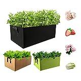 Dsaren 3 Piezas Bolsa de Siembra Cuadrado Maceta de Cultivo Macetas de Tela Bolsa de Cultivo de Plantas Bolsas de Fieltro para Plantas Hogar Balcón Jardín Plantas Tomate Flores Verduras
