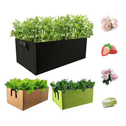 Dsaren 3 Pezzi Rettangolare Sacco Coltivazione Piantapatate Ortaggi da Piantare Piante Sacchetti per Coltivazione Patate Casa Balcone Giardino Carote Pomodori Verdure (3 pezzi)