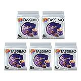 Tassimo Cadbury Hot Chocolate Pods (Pack of 5, Total 80 Coffee Capsules)