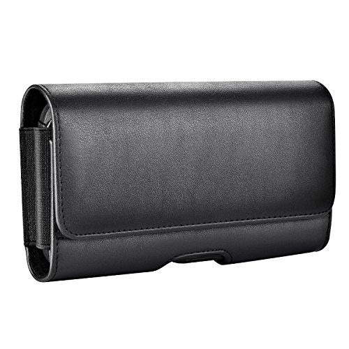 Mopaclle Samsung Galaxy S8 S9 Gürtelclip Hülle - Premium Leder Handytasche Gürteltasche Schutzhülle Case mit ID Card Slots für Samsung Galaxy S9,Galaxy S8 (Fits with Hard Case)