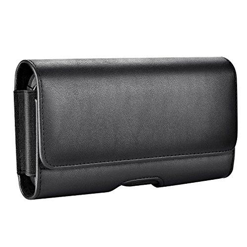 Mopaclle iPhone 8 Plus Gürtelclip Hülle, iPhone 7 Plus Gürtel Tasche Leder Handytasche Gürteltasche Schutzhülle Hülle mit ID Card Slots für iPhone 6s Plus, 6 Plus,7 Plus,8 Plus