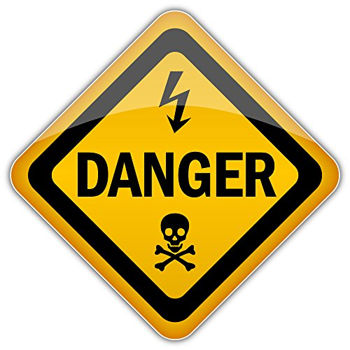 Danger Warning Sign Bumper Sticker Vinyl Art Decal for Car Truck Van Window Bike Laptop