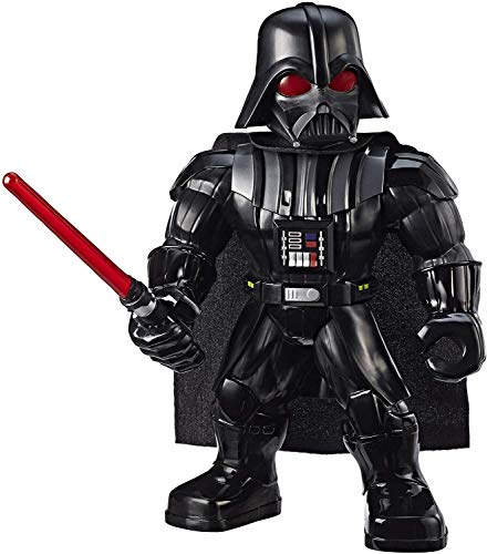 Star Wars Galactic Heroes Mega Mighties Darth Vader 10' Action Figure with Lightsaber Accessory, Toys for Kids Ages 3 & Up