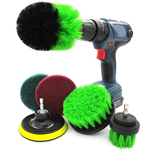 6点セット 洗車 車磨きブラシ 電動掃除用 ブラシ ドリル アタッチメントキット バスルーム キッチン 室・浴槽・床・お風呂などの掃除用 隅々まで 手軽