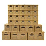 Bankers Box SmoothMove Classic Moving Kit Boxes, Tape-Free Assembly, Easy Carry Handles,)20 Small 5 Medium 5 Large, 30 Pack (7716501