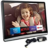 10.6 Inch 4K 1080P Android 9.0 Universal Headrest Monitor Video Player for Car TV Touch Screen Support Headset WiFi/Bluetooth/USB/SD/HDMI in/FM/Airplay NO DVD (2G ram 16G ROM)(1 x Monitor)