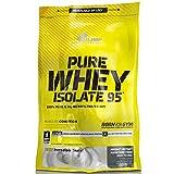 OLIMP Pure Whey Isolate 95 600g Vanille Geschmack reines Wheyprotein-Isolat WPI ohne laktoseverzweigte Aminosäuren bcaa Muskelmasse Muskelprotein Nährstoff Muskulatur Regeneration Carving