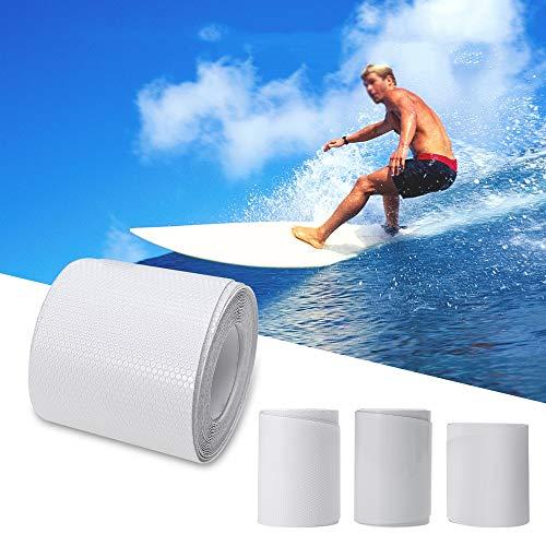 Lixada 83in * 39in / 75in * 39in Blanco Sup Tabla de Surf Tape Surfboard Rail Protección Película PVC