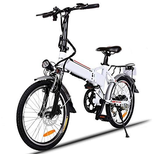 Elektrisches Citybike 20 Zoll Elektrisches Mountainbike für Erwachsene mit 250W Hochgeschwindigkeitsmotor und 36V 8 10Ah Lithiumbatterie, professionelles Getriebesystem