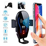 DM Car Phone Mount Air Vent Automatic Clamping Cell Phone Holder for Car Wireless Charger Compatible with...