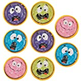 Kicko 8 Pack Expression Face Pill Puzzle Mazes - 2 Inches - Different Face Expressions - in Assorted Colors - for Kids, Boys, Girls - Party Favors, Fun, Game, Toy, Prize
