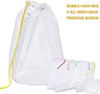 Bubble Hash Bag 5 Gallon All Nylon Mesh Herbal Ice Extractor Kits with Pressing Screen & Storage Bag by ZCONIEY
