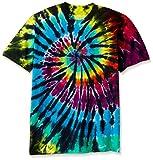 Liquid Blue Men's Rainbow Spiral Streak T-Shirt, Tie Dye/Multi, Medium