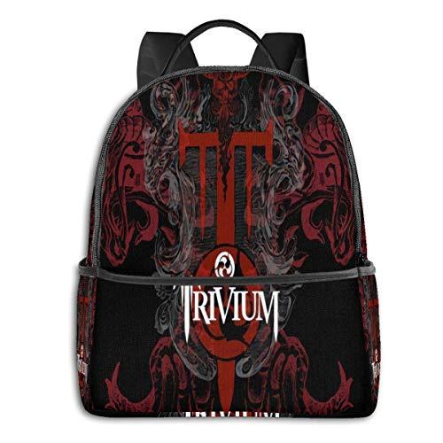 ZSMJ Trivium University School Large Capacity Backpack Computer Bag Unisex Suitable Hiking Variety Outdoor Sports