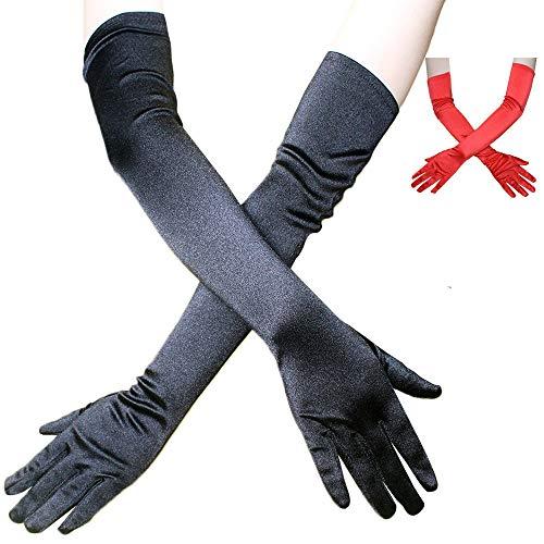 NOBRAND YYGUI 2 paar satijnen handschoenen lange jurk handschoenen satijn leuk bruiloft handschoenen diner show kostuum accessoires zon handschoenen