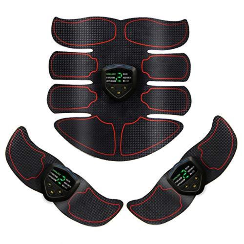 GWM Cintura addominale Attrezzature per il fitness sportivo Cintura EMS, USB ricaricabile Lcd Monitor pigro casa perdita di peso massaggio...