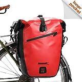 Rhinowalk Fahrradtasche wasserdichte Fahrradtasche 27L, (für Fahrrad Gepäckträger Satteltasche Umhängetasche Laptop Gepäckträger Fahrradtasche Professionelles Fahrradzubehör)-Rot