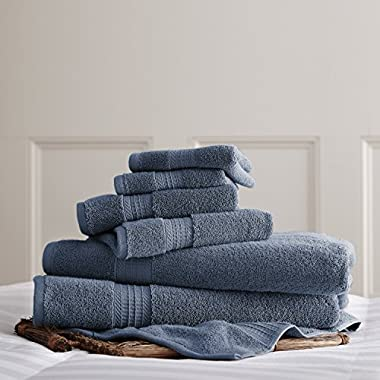 Amrapur Overseas 6-Piece Ultra-Soft 700GSM 100% Cotton Towel Set (Denim)
