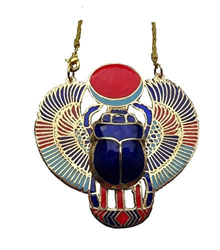 Colgante egipcio de escarabajo con cadena. Talla XXL