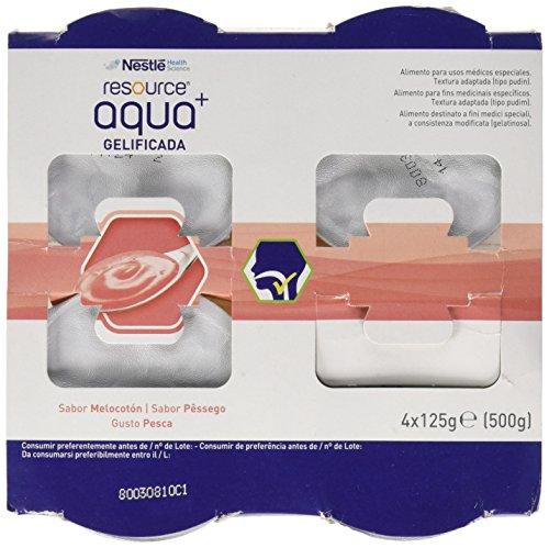 Meritene Resource Aqua+ Gelificada Melocoton 4Tarrinas - 500 gr