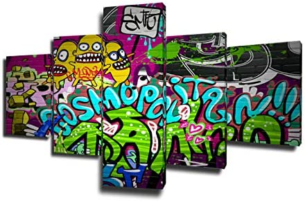 Framed Music Poster Graffiti HD Prints on Canvas Paintings for Wall House Decorations Living product image